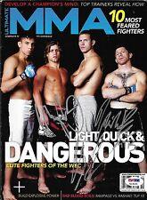 Donald Cerrone Urijah Faber Mike Brown Signed 2009 MMA Magazine PSA/DNA WEC UFC