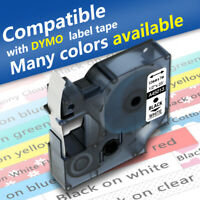 Compatible Dymo D1 Tape Black on White 19mm/12mm/9mm Label Manager Printer 160