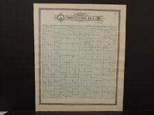 Nebraska Dawson County Map Wood River Township c.1904 J10#27