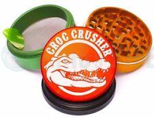 Croc Crusher - 4 Piece Grinder for Herb & Tobacco - 3.5'' Size - Rasta