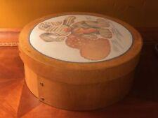 Round Hardwood Amish Shaker Bentwood Box