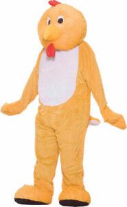 Deluxe Chicken Mascot Costume Adult Large - Xl Plus Size Men Women Fun Fur Bird