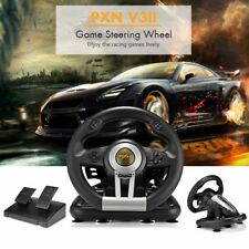 PXN V3II Racing Game Steering Wheel with Brake Pedal for PC PS3 PS4 Xbox Black