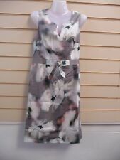 DRESS MULTI COLOURED SIZE 8 KALEIDOSCOPE ABSTRACT WATER COLOUR FLORAL PRINT BNWT