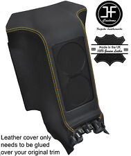 GIALLO Stitch SUBWOOFER centro posteriore in Pelle Pannello Copertura si adatta a GT-R R35 2008-2017