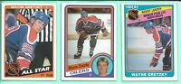 1984-85 Wayne Gretzky U PICK Topps #51 #154 O-Pee-Chee #382