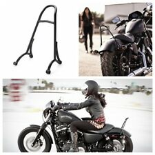 Black Burly Short Sissy Bar Backrest For Harley 04-16 Sportster Iron 1200 883XL