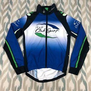 Jakroo Cycling Men's Long Sleeve Full Zip Active Shirt Team Club Sport Size XS