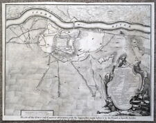 LERIDA, LLEIDA, CATALONIA,SPAIN, Battle plan antique map 1745