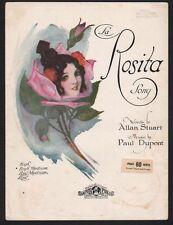 La Rosita 1923 Spanish and English lyrics Sheet Music