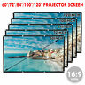 120'' Large Projector Screen 16:9 Projection HD Home Theater Cinema Movie Screen