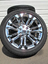 "22"" New Chevrolet Tahoe Silverado Suburban Chrome Rims 2854522 Tires 5666 B"