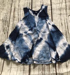 Baby Girs M 1-2 Years 12-18 18-24 Tye Dye Blue Summer Dress