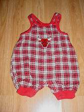 Baby Boys Shorts-Romper-Jon John-Chicago Bulls Red plaid Photo Outfit-3-6 months