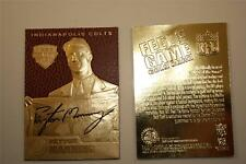 PEYTON MANNING 1998 Draft Pick FEEL THE GAME Gold Card NM-MT Football Textured
