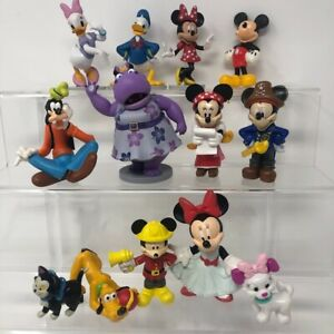 Disney Mickey Minnie Mouse Pluto Daisy Donald Duck 13 Figures Cake Toppers