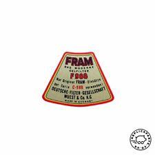 Porsche 356 All 1950-1965 Fram Oil Filter Top Cover Decal 64470100900