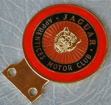 Jaguar apprentices motor club car grille badge