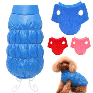 Waterproof Dog Clothes Winter Jacket Cozy Puppy Small Medium Dog Fleece Coat