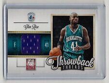 "Glen Rice  Patch  2012-13 P. Elite ""Throwback Threads"" #13  Charlotte   379"