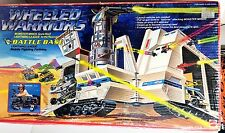 WHEELED WARRIORS BATTLE BASE Vintage Mattel Fortress Playset  COMPLETE BOX