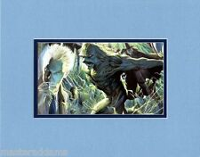 Alan Moore Tribute SWAMP THING MIRACLE MAN PROFESSIONALLY MATTED PRINT Ross art