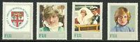 Album Treasures Fiji Scott # 470-3 Princess Diana  MNH