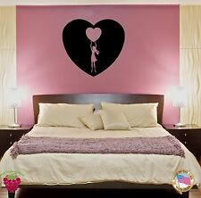 Wall Sticker Girl With Heart Inside Another Heart Decor for Bedroom z1415