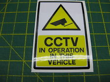 1 CCTV IN OPERATION IN THIS VEHICLE STICKER 71mmx 47mm