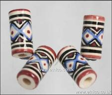 Peruvian  Ceramic  BEADS  HAIR & CRAFTS        V01018 Tube  X 10 BEADS