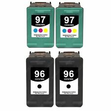 4pk Ink Cartridges for HP 96/97 PhotoSmart 2610 2710 8050 8150 8450 8750 Printer