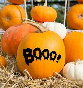 Boo Halloween Pumpkin Decoration Sticker Window Wall Door Stick On Vinyl Decal