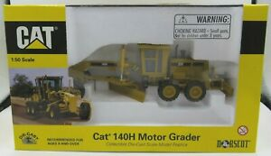 Boxed Norscot Cat 140H Motor Grader Model Vehicle 1:50 Scale