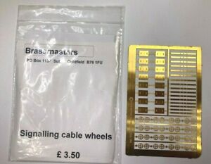 BRASSMASTERS SIGNALLING CABLE WHEELS - 00 GAUGE