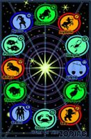 Signs of the Zodiac Astrological Astrology Psychedelic Trippy Blacklight Poster