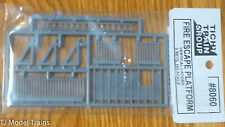 Tichy Train Group #8060 Fire Escape Platform w/Railing, Vertical Ladder & See-Th