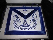 Mason Masonic Apron Navy with Eye 1964 Silver Trowel
