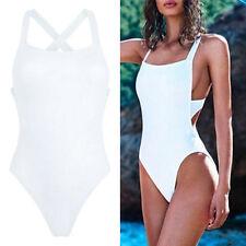 Women One-Piece Swimsuit Beachwear Swimwear Padded Monokini Bikini Bathing AP
