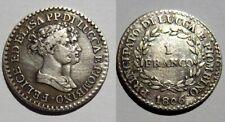 Félix et Elisa BONAPARTE. 1 Franco argent 1806. Rare