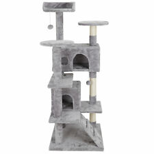 """53"""" Multi-level Cat Tree Tower for Multiple Cats W/Sisal Posts, Plush Perch"""
