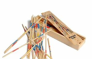 2 x Mikado Traditional Pick Up Sticks Retro Game Wooden Party Favour Favor Gift