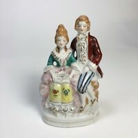 Vintage Porcelain Figurine Victorian Couple Hand Painted Made in Occupied Japan
