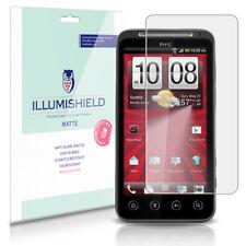 iLLumiShield Matte Screen Protector w Anti-Glare/Print 3x for HTC EVO 3D