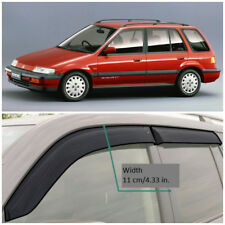 HE13287 Window Visors Guard Vent Wide Deflectors For Honda Civic Wagon 1987-1994
