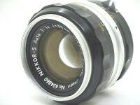 【Ext++】Nikon  Nikkor-S Auto Non-Ai 50mm F1.4 Nippon Kogaku MF  Camera Lens #45E
