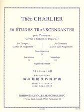 Théo Charlier 36 Études Transcendantes Classical Trumpet Songs Tunes Music Book