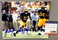 JABRILL PEPPERS SIGNED MICHIGAN WOLVERINES 8X10 PHOTO PSA/DNA ROOKIE GRAPH COA