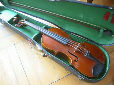 Nicely flamed old 4/4 Violin violon,needs some service