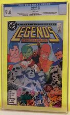 LEGENDS #3 CGC 9.6 - WHITE PAGES *1ST APP OF THE NEW SUICIDE SQUAD*