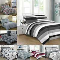 Print Duvet Cover Sets 200TC 100% Cotton Quilt Bedding Set Double Super King